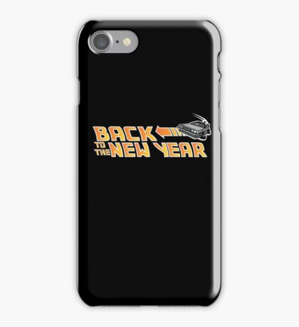 Back to the New Year (Back to the Future) Color iPhone Case/Skin