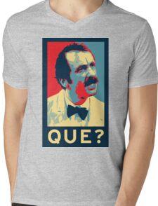 QUE? Mens V-Neck T-Shirt