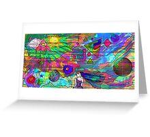 Vaporwave-Vapor Portal Artwork Greeting Card
