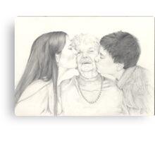 Hugs and kisses Canvas Print