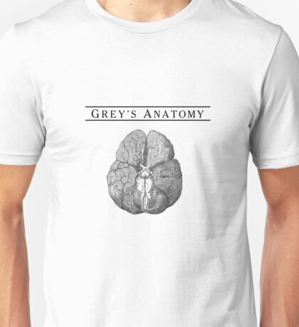 Grey's Anatomy Brain b&w Unisex T-Shirt
