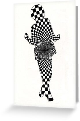 64 - GEOMETRIC DANCER - DAVE EDWARDS - INK - 1983 by BLYTHART