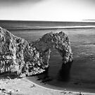 Durdle Door B&W by Dean Messenger