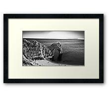 Durdle Door B&W Framed Print