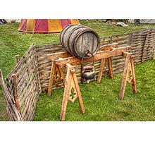 Barrel And Stand Photographic Print