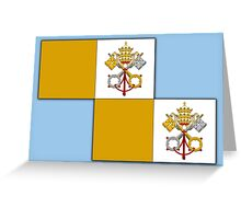 Papal flag pattern Greeting Card