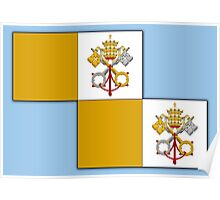 Papal flag pattern Poster