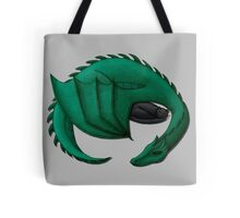 Sea Dragon Curled Around Sleeping Cat Tote Bag