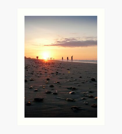 Rocky Shores - Folly Beach Sunrise Art Print