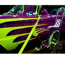 Metalic Bling......Barbie's Car and Dragster Photographic Print