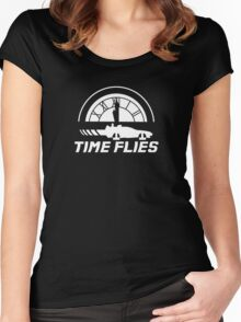 Time Flies (Back to the Future) Women's Fitted Scoop T-Shirt