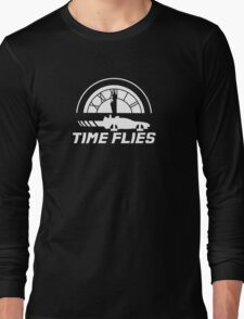 Time Flies (Back to the Future) Long Sleeve T-Shirt