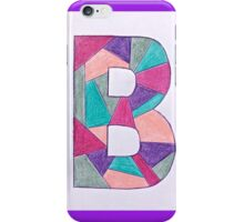Letters of the alphabet  B iPhone Case/Skin