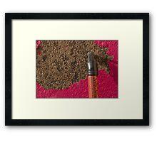 Peeling Pink & Red Framed Print