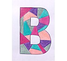 Letters of the alphabet  B Photographic Print