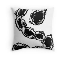 062 - INFLUENCED BY ESCHER - 01 - DAVE EDWARDS - INK - 1982 Throw Pillow