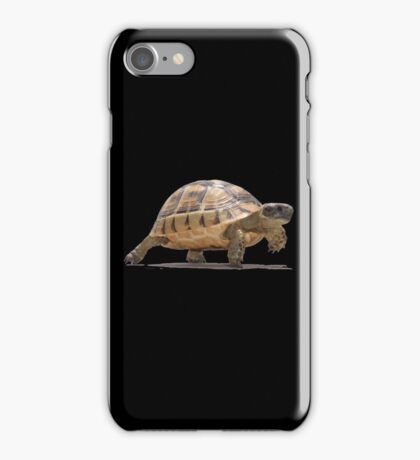 Marching Baby Tortoise Cartoon Vector Isolated iPhone Case/Skin