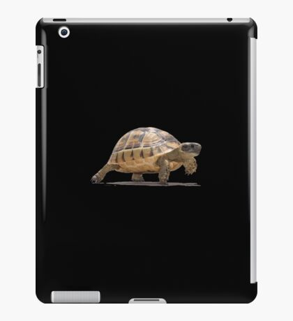 Marching Baby Tortoise Cartoon Vector Isolated iPad Case/Skin