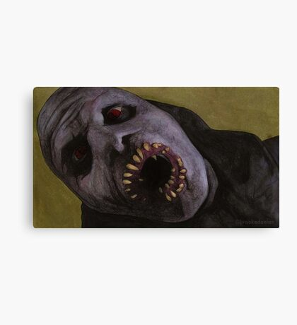 Listening to Fear - Queller Demon - BtVS Canvas Print