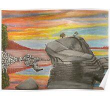 Sea Rocks Poster