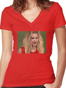 No Place Like Home - Glory - BtVS Women's Fitted V-Neck T-Shirt