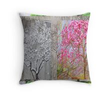 Many Seasons Of The Pink Magnolia Throw Pillow