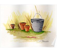 Pail and Pots Poster