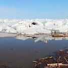 Ice on lake by zumi