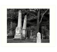 Leaning Tombstones Art Print