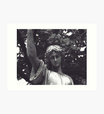 Statue Tombstone Art Print