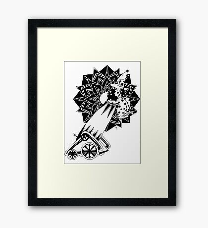 Circus - The Clown and The Cannon Framed Print
