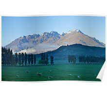Early morning, Queenstown, South Island, New Zealand. Poster