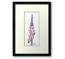 Flag at Veterans Park Framed Print