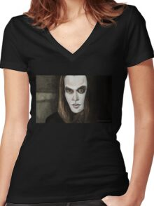 Buffy Vs. Dracula - Dracula - BtVS Women's Fitted V-Neck T-Shirt