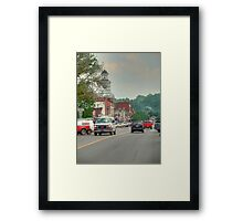 A Small American Town Framed Print