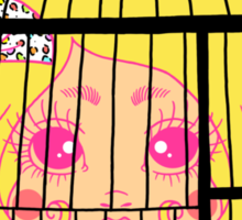 Girl in Cage Sticker