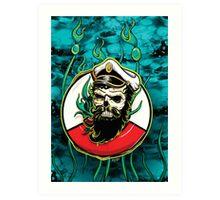 Davy Jones - Turquoise Art Print