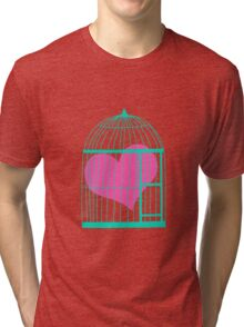 Heart in Cage Tri-blend T-Shirt
