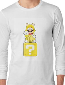 Lucky Cat Mario Long Sleeve T-Shirt