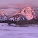 Oxbow Bend Winter Sunrise by Stephen Vecchiotti
