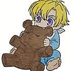 Baby Tamaki Suoh with Kuma-chan the bear by merelyAdreamer