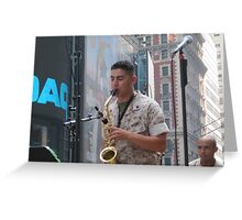 Saxiphonist  for the Marine Band Jazz Combo Greeting Card