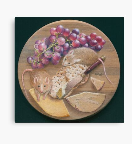 A Platter for Two Canvas Print