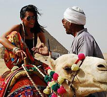 Pyramids and Street Vendors by travelninja