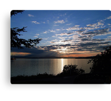 A Late Spring Sunset Canvas Print