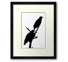 eagle pair silhouette Framed Print