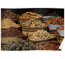 Assorted Spices from Asuan, Egypt Poster