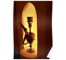 Waterpipe or Hookah by lamp light Poster