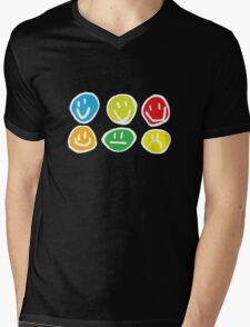 if you're happy and you know it ... (white) Mens V-Neck T-Shirt
