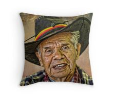 JOHN AND HIS HAT. Throw Pillow